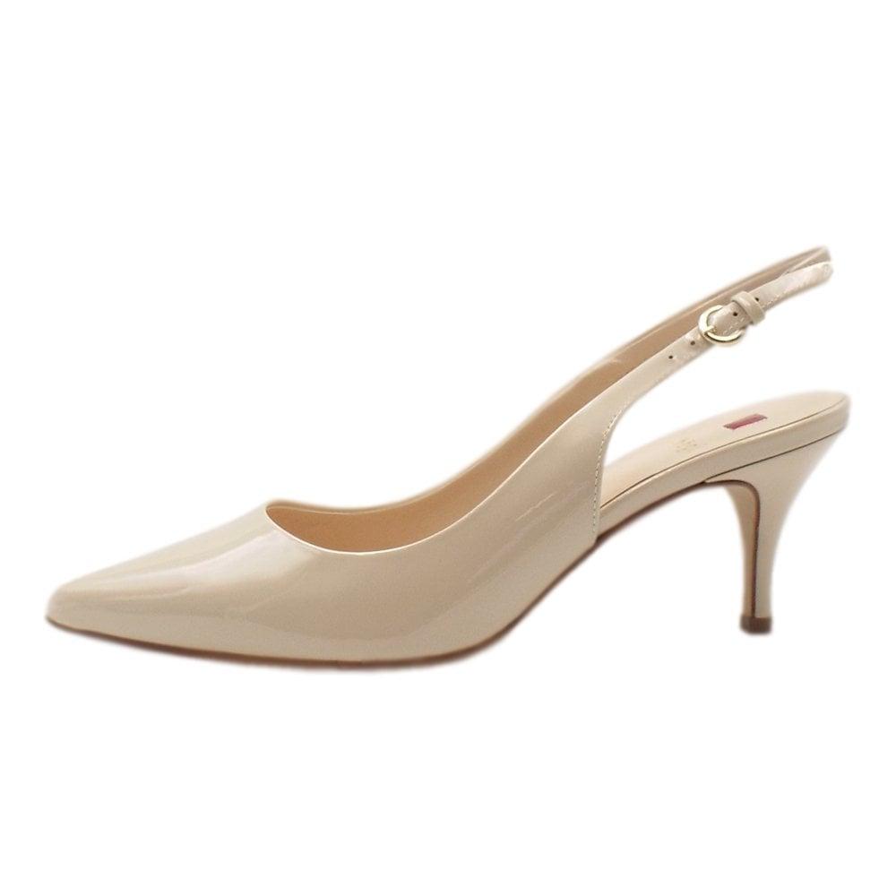 8118807544e 7-10 6214 Hampton Chic Pointed Toe Slingbacks in Cotton