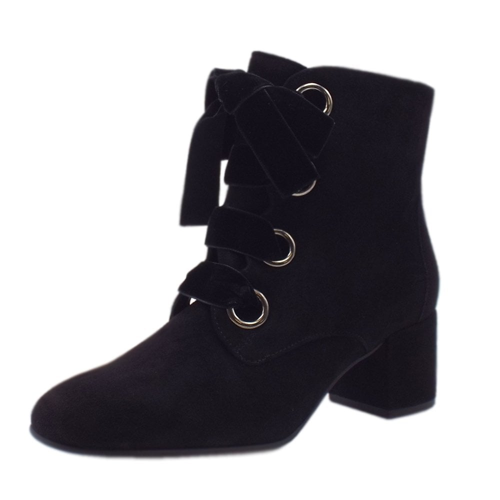 Högl 6 10 4142 Francoise Stylish Ankle Boots in Black Suede