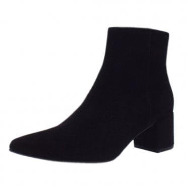 d598f3fc1886 6-104912 Publicity Stylish Ankle Boots in Black Suede