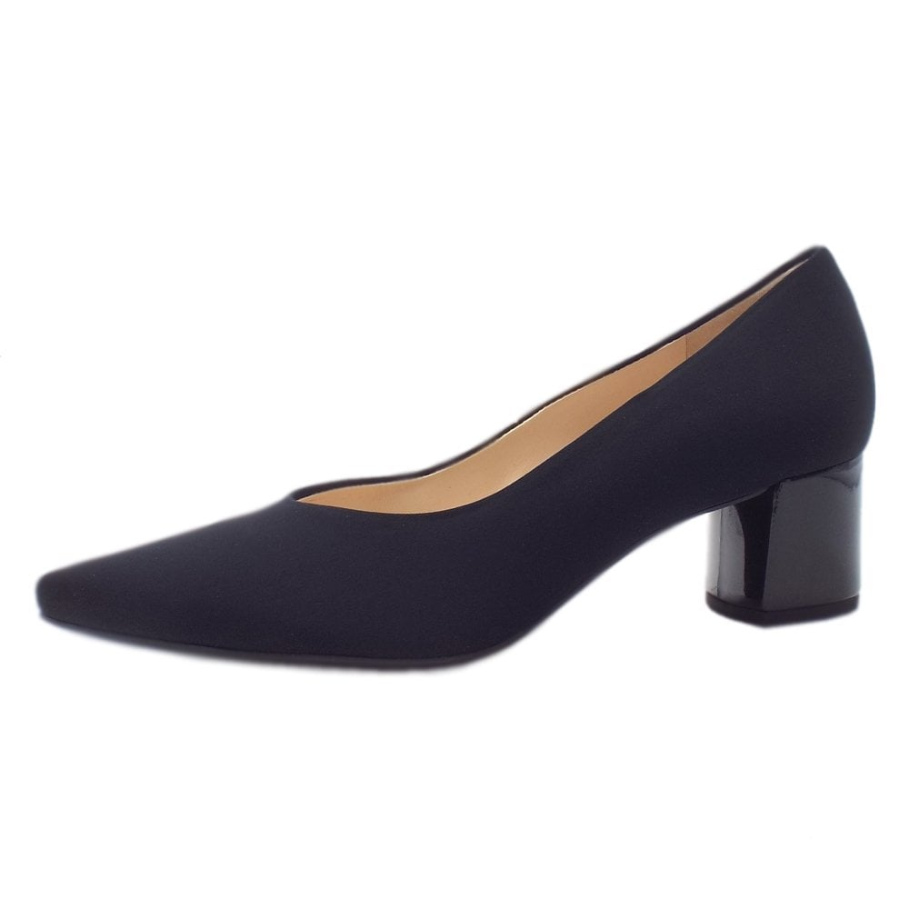 Court Shoes Black Stretch