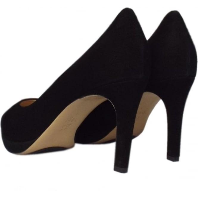 Classic High Heel Court Shoe in Black Suede